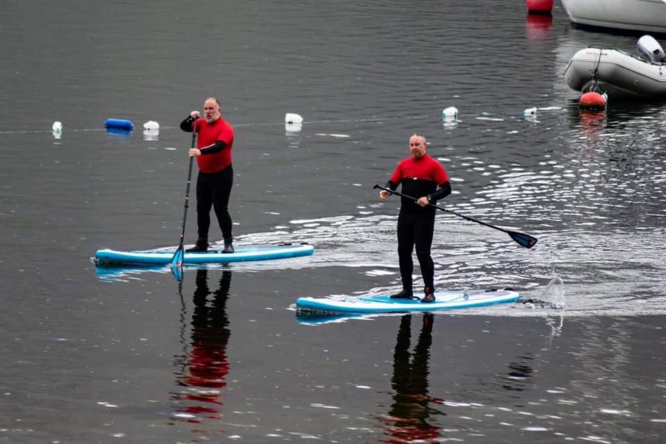 USS Enterprise crew paddleboarding
