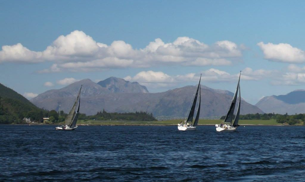 Yachts racing on Loch Leven