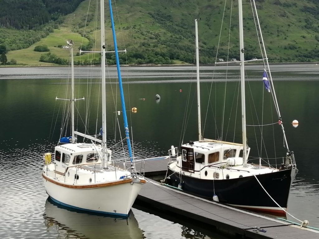 A pair of Colvic Watsons on the pontoon